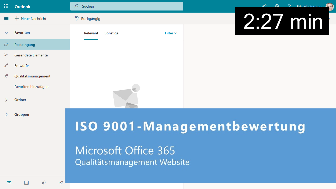 ISO 9001-Managementbewertung in Microsoft Office 365